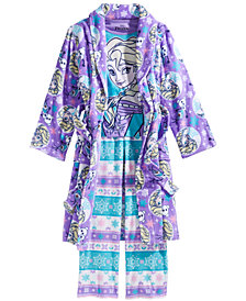 Frozen Little & Big Girls 3-Pc. Frozen Robe, Top & Pants Pajama Set