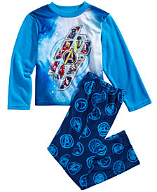 Marvel Little & Big Boys 2-Pc. Avengers Fleece Pajama Set