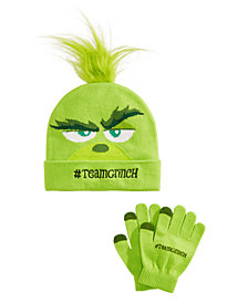 Accessory Innovations Little & Big Boys & Girls 2-Pc. #TeamGrinch Hat & Gloves Set