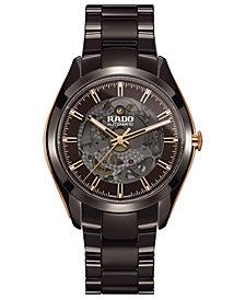 Rado Men's Swiss Automatic HyperChrome Brown High-Tech Ceramic Bracelet Watch 42mm
