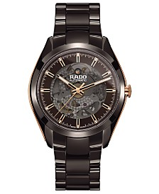 Rado Men's Swiss Automatic HyperChrome Brown High-Tech Ceramic Bracelet Watch 42mm