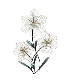 Stratton Home Decor Tri-Flower Wall Decor