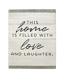 Stratton Home Decor This home is filled with love Wood and Galvanized Wall Art