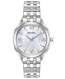 Bulova Women's Classic Stainless Steel Bracelet Watch 34mm