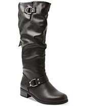 c911a8528cf0 XOXO Minkler Wide Calf Riding Boots