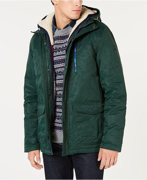 c9cd6d77b Tommy Hilfiger Men's Hilltop Hooded Coat with Detachable Fleece ...