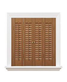 "Traditional Faux Wood Interior Shutter, 31-33""  W x 28"""