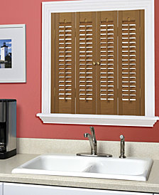 """Traditional Faux Wood Interior Shutter, 35-37""""  W x 20"""""""