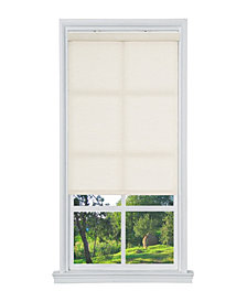 "Cordless Linen Look Light Filtering Fabric Roller Shade, 23""  W x 66"""