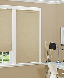 "Cordless Linen Look Thermal Fabric Roller Shade, 31""x66"""