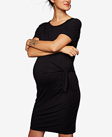 A Pea In The Pod Maternity Tie-Front Dress
