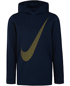 Nike Little Boys Dri-FIT Swoosh Graphic-Print Hoodie