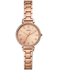 Fossil Women's Kinsey Rose Gold-Tone Stainless Steel Bracelet Watch 28mm