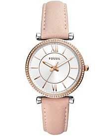 Carlie Collection Leather Strap Watches