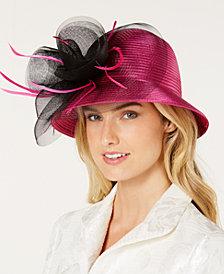 August Hats Satin Stripe Luxurious Cloche