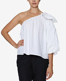 INSPR x Natalie Off Duty One Shoulder Poplin Top, Created for Macy's