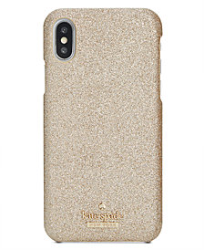 kate spade new york Glitter Hard iPhone X Case