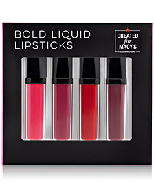 Macy's Beauty Collection 4-Pc. Bold Liquid Lipsticks Set, Created For Macy's