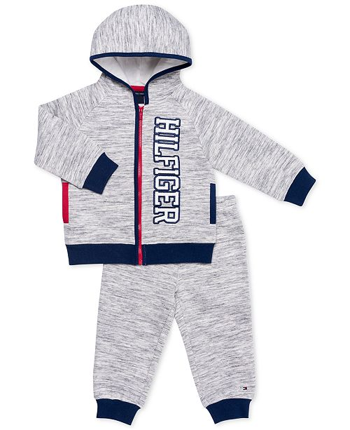 c55e481b2a70 Tommy Hilfiger Baby Boys 2-Pc. Fleece Hoodie   Jogger Pants Set ...
