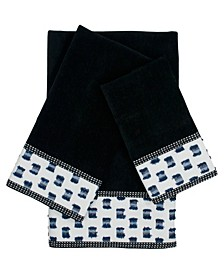 O'Fifi 3-piece Embellished Towel Set