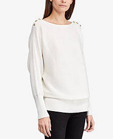 Ralph Lauren Petite Draped Top