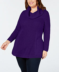 Style & Co Plus Size Cowl-Neck Tunic, Created for Macy's