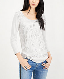 Lucky Brand Foil Medallion Shirt