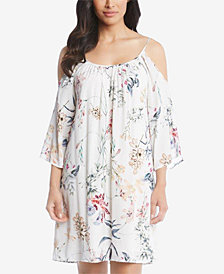 Karen Kane Cold-Shoulder Trapeze Dress, Created for Macy's