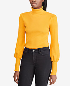 Ralph Lauren Petite Puffed-Sleeve Sweater