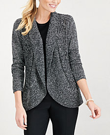 Karen Scott Open-Front Curved-Hem Cardigan, Created for Macy's