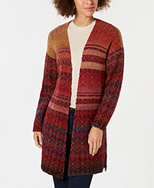 Style & Co Petite Jacquard Cardigan, Created for Macy's
