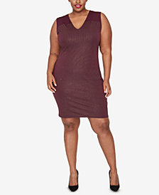 RACHEL Rachel Roy Trendy Plus Size Studded Dress