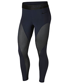 Nike Pro Warm Colorblocked Metallic Ankle Leggings