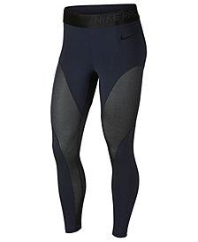 Nike Pro Warm Colorblocked Metallic Ankle Leggings