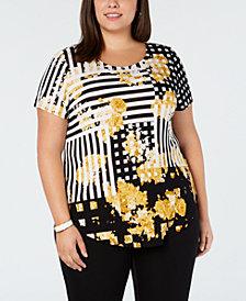 Yellow Plus Size Tops Macy S