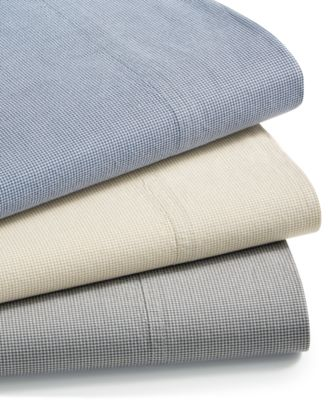 CLOSEOUT! Sleep Soft Cotton 200 Thread Count 4-Pc. Yarn Dyed Queen Sheet Set, Created for Macy's