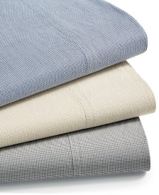 CLOSEOUT! Charter Club Sleep Soft Cotton 200 Thread Count Yarn Dyed Sheet Set Collection, Created for Macy's