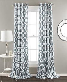 Edward Trellis Room Darkening Window Curtain Set