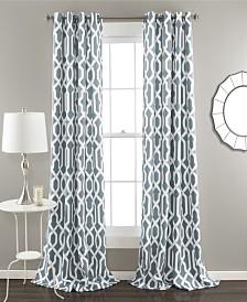 "Edward Trellis 84"" x 52"" Room Darkening Window Curtain Set"