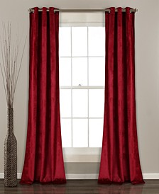 "Prima Velvet 38"" x 84"" Curtain Set"