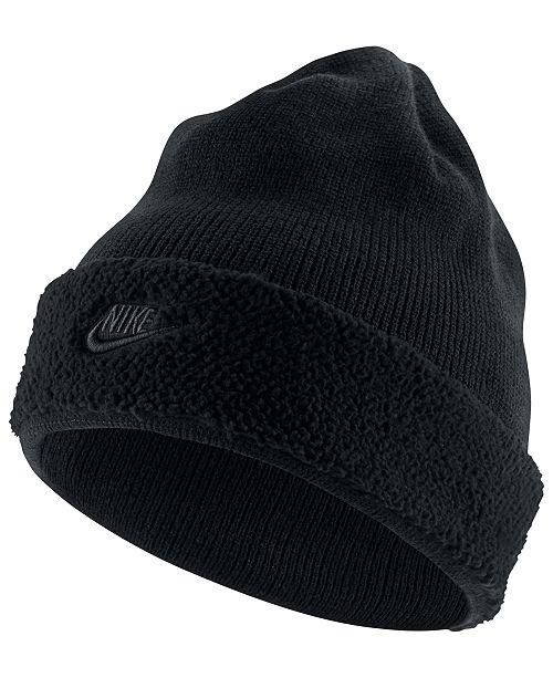 7a3e71496b4 Nike Men s Sportswear Fleece-Cuff Beanie   Reviews - Hats