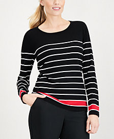 Karen Scott Thin-And-Thick Striped Top, Created for Macy's