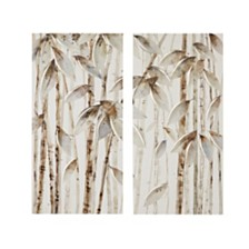 Madison Park Bamboo Forest Printed Canvas, Set of 2