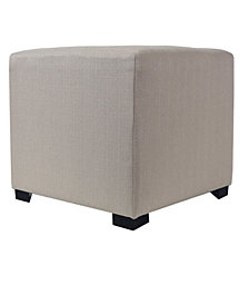 This ottoman features a wooden frame covered with a chic fabric that will stand out in your home