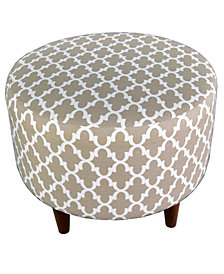 Sophia Round Fulton Upholstered Ottoman