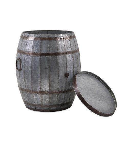 IMAX Vineyard Wine Barrel Storage Table
