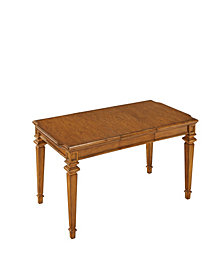 Floral Blossom Taupe Oval Dining Table