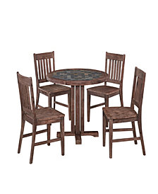 Home Styles Morocco 5PC Round Dining Set (Armless Chairs)