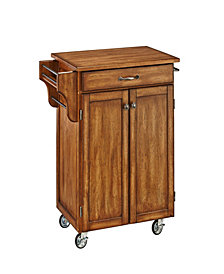 Home Styles Cuisine Cart Warm Oak Finish with Oak Top