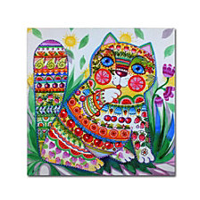 Oxana Ziaka 'Deco Cat' Canvas Art Collection